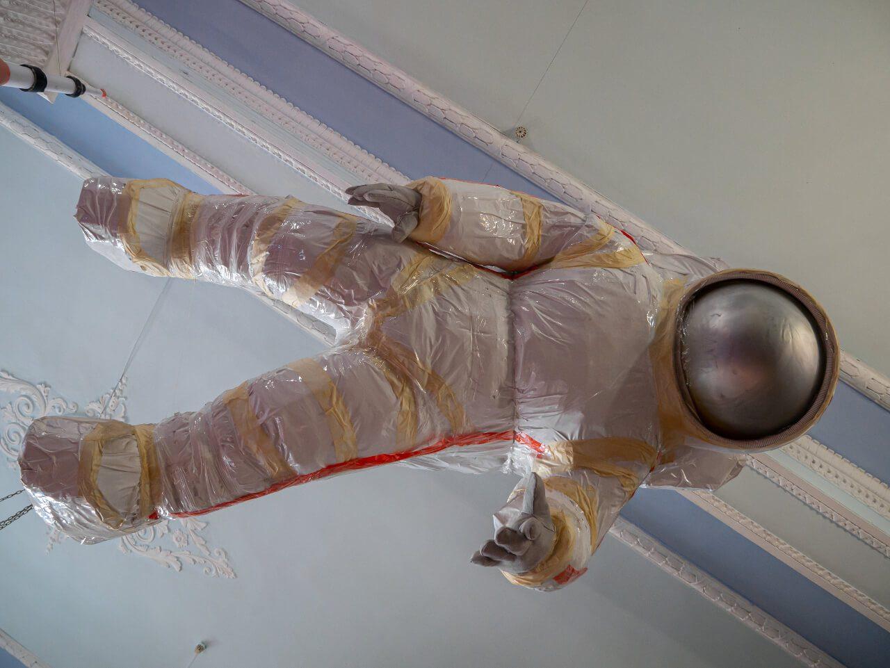 Astronautka w Planetarium Gagarina w Charkowie