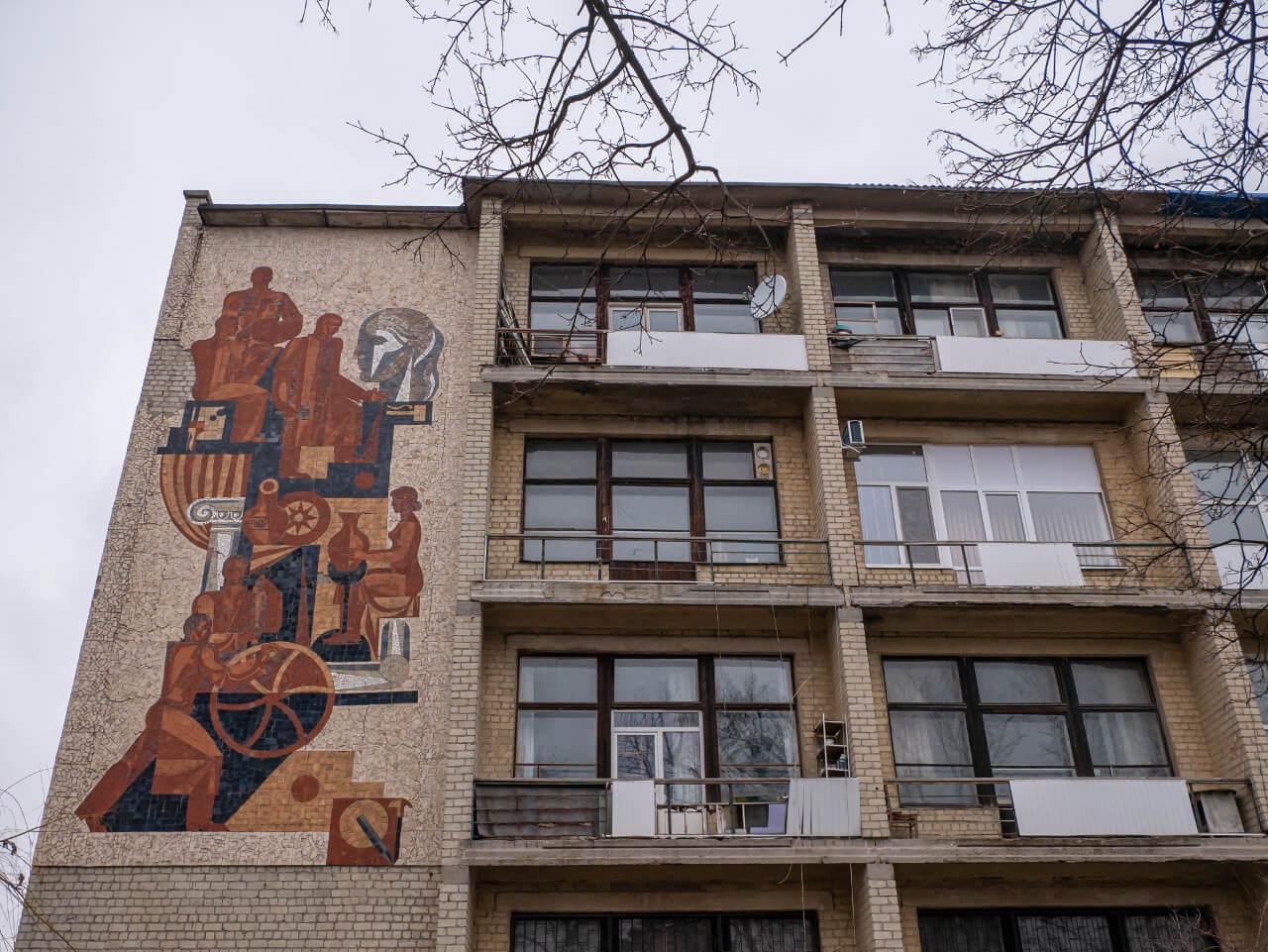 Mozaika - socrealizm w Charkowie