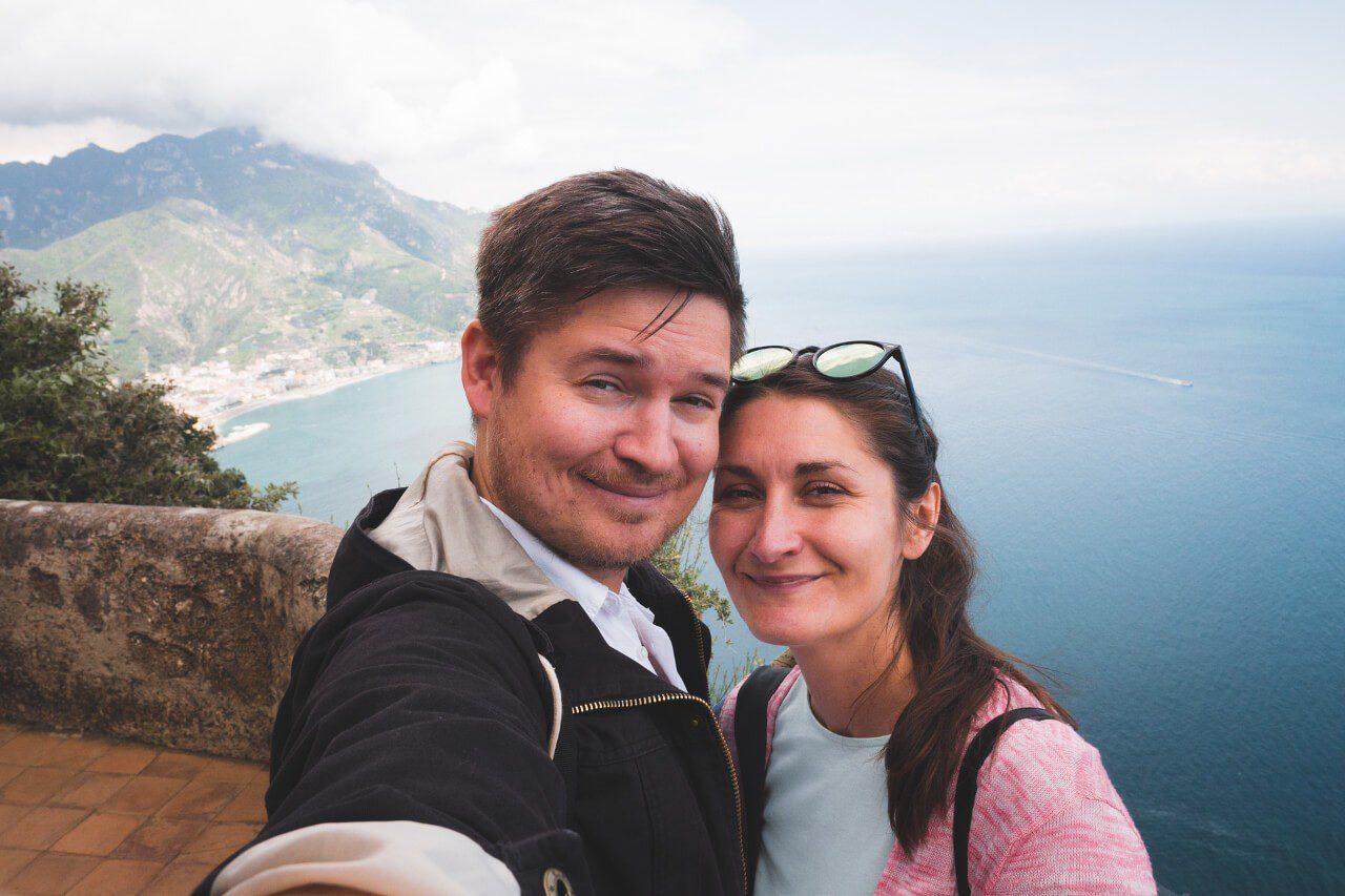 Ania i Marcin z widokiem w tle