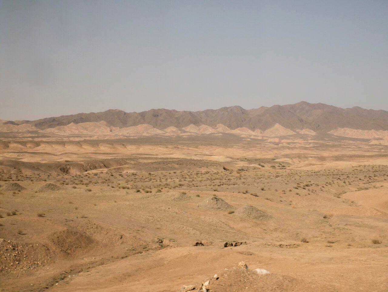 Widok na pustynię w Iranie