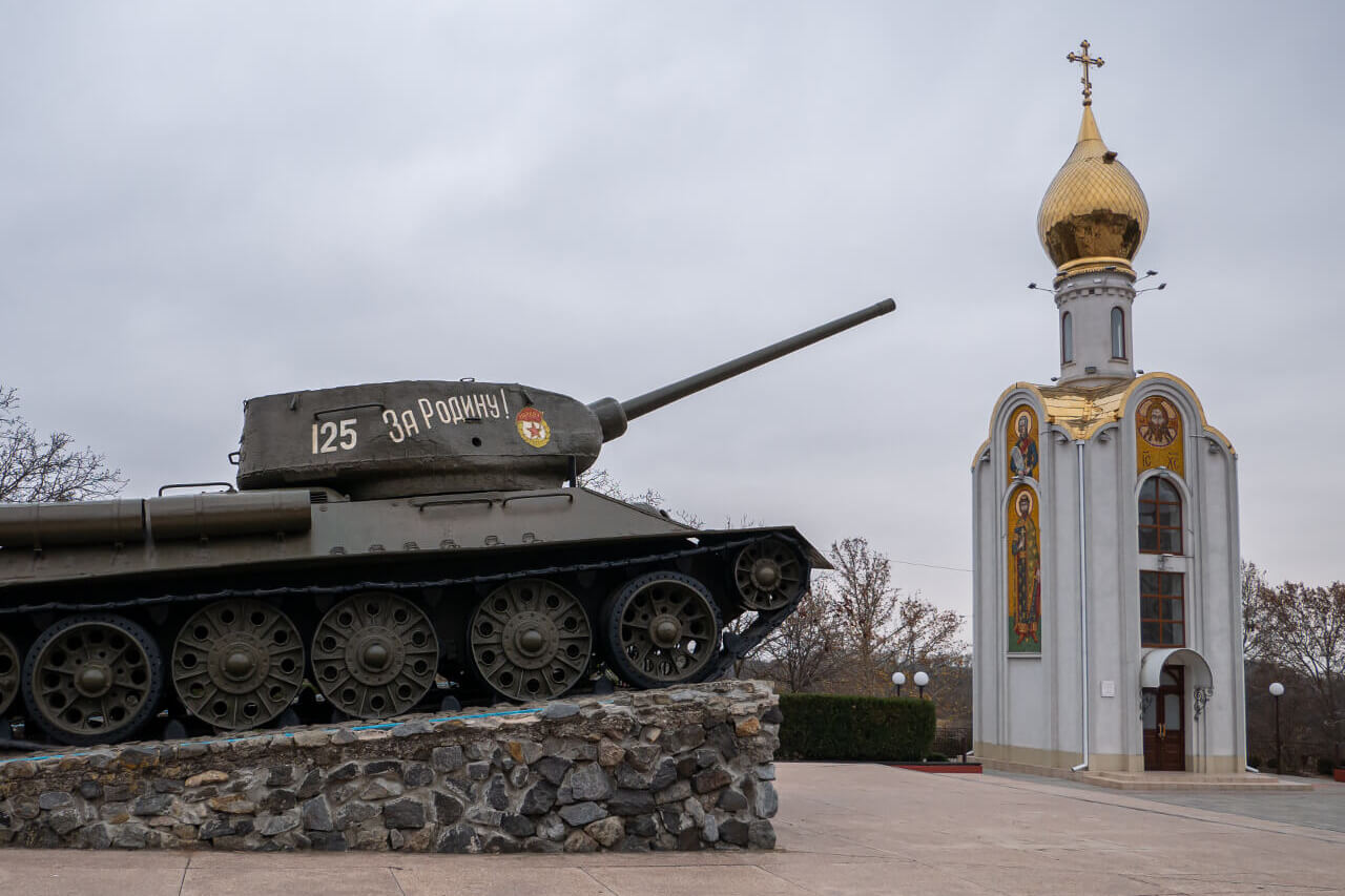 Czołg w Tyraspolu (Naddniestrze)