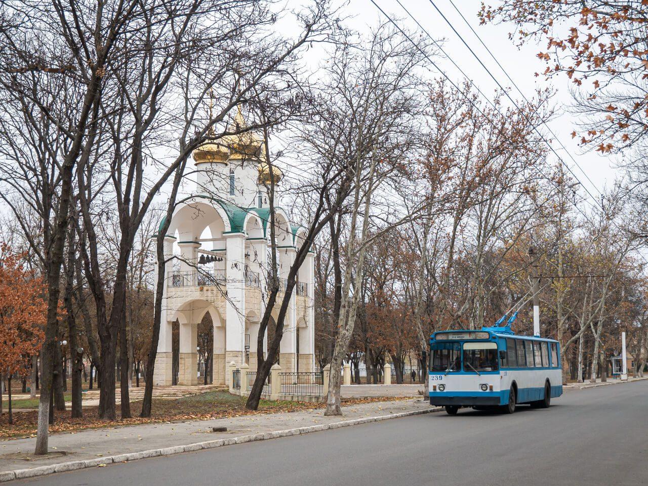 Trolejbus na ulicy Tyraspola