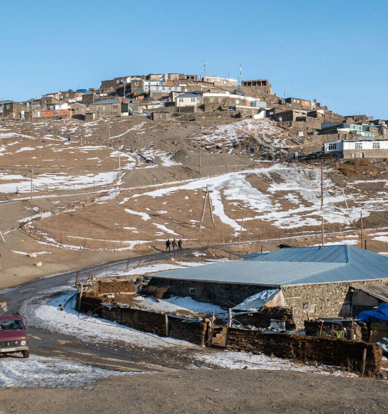 Xinaliq (Hinalug) w Azerbejdżanie – górska wioska, w której mówi się językiem Noego