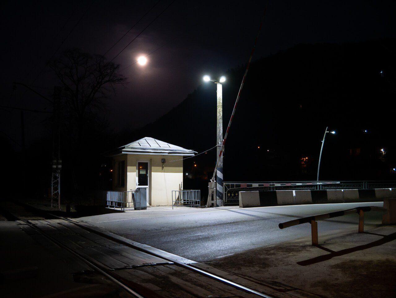 Przejazd kolejowy w Borjomi