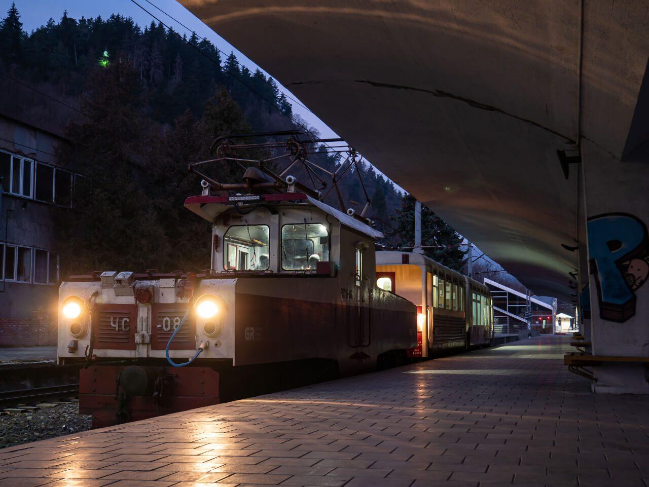 Skład pociągu z Borjomi do Bakuriani