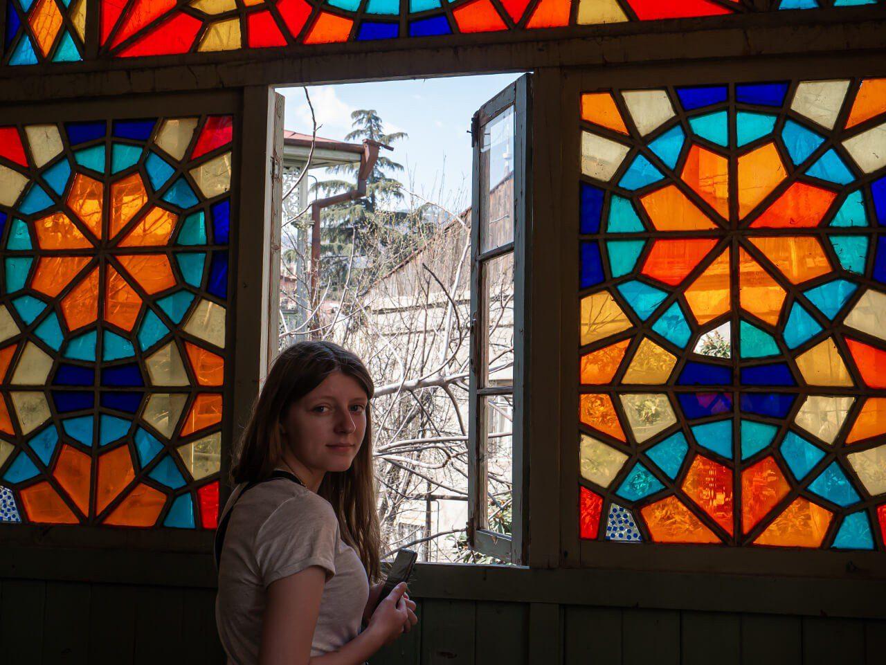Natalia w Galerii 27 w Tbilisi