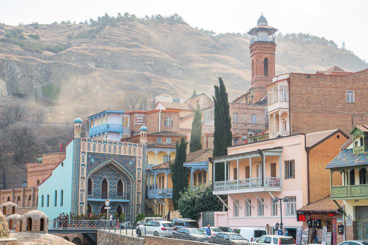 Dzielnica Abanotubani w Tbilisi