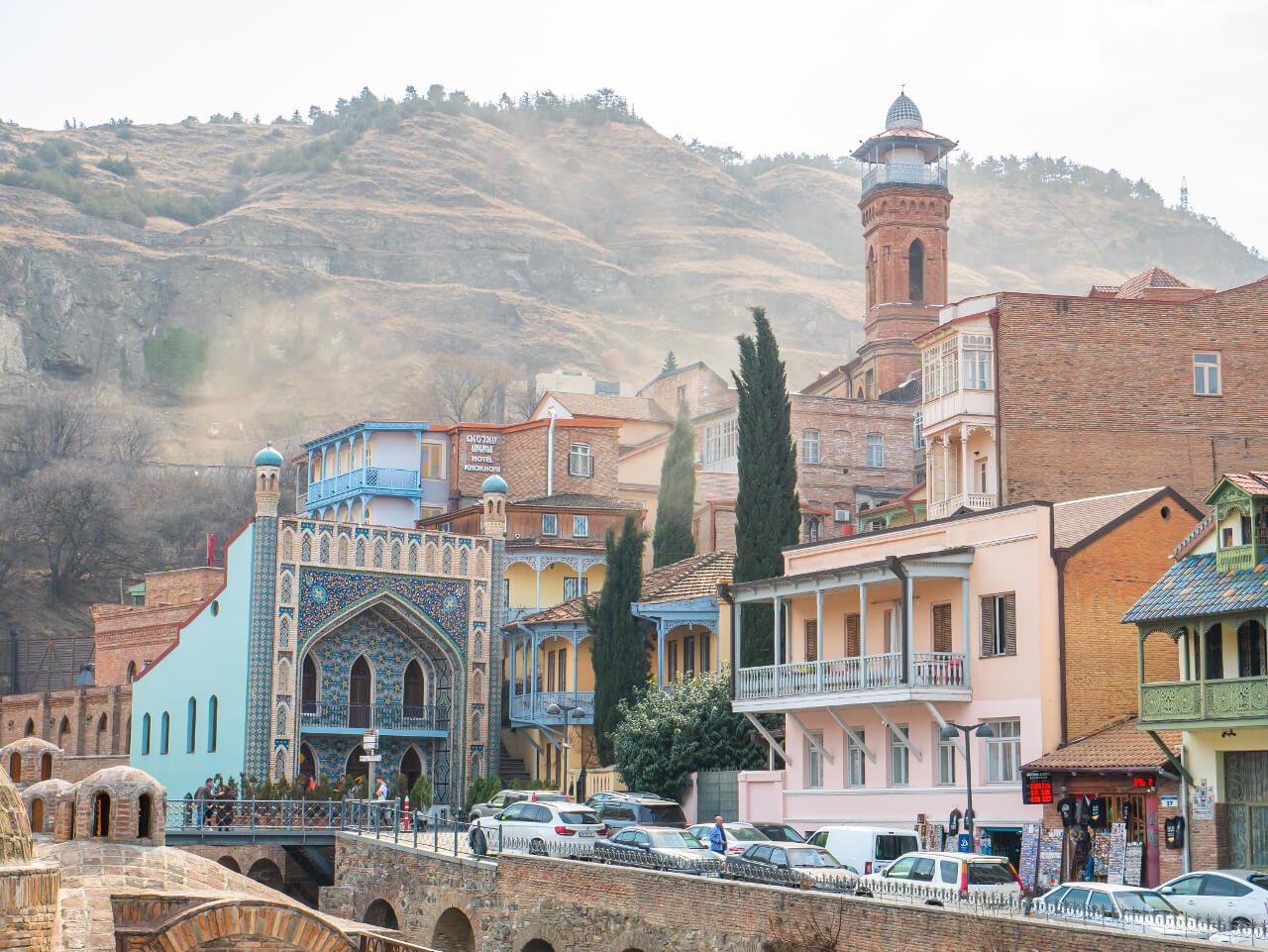 Łaźnia Orbeliani w dzielnicy Abanotubani