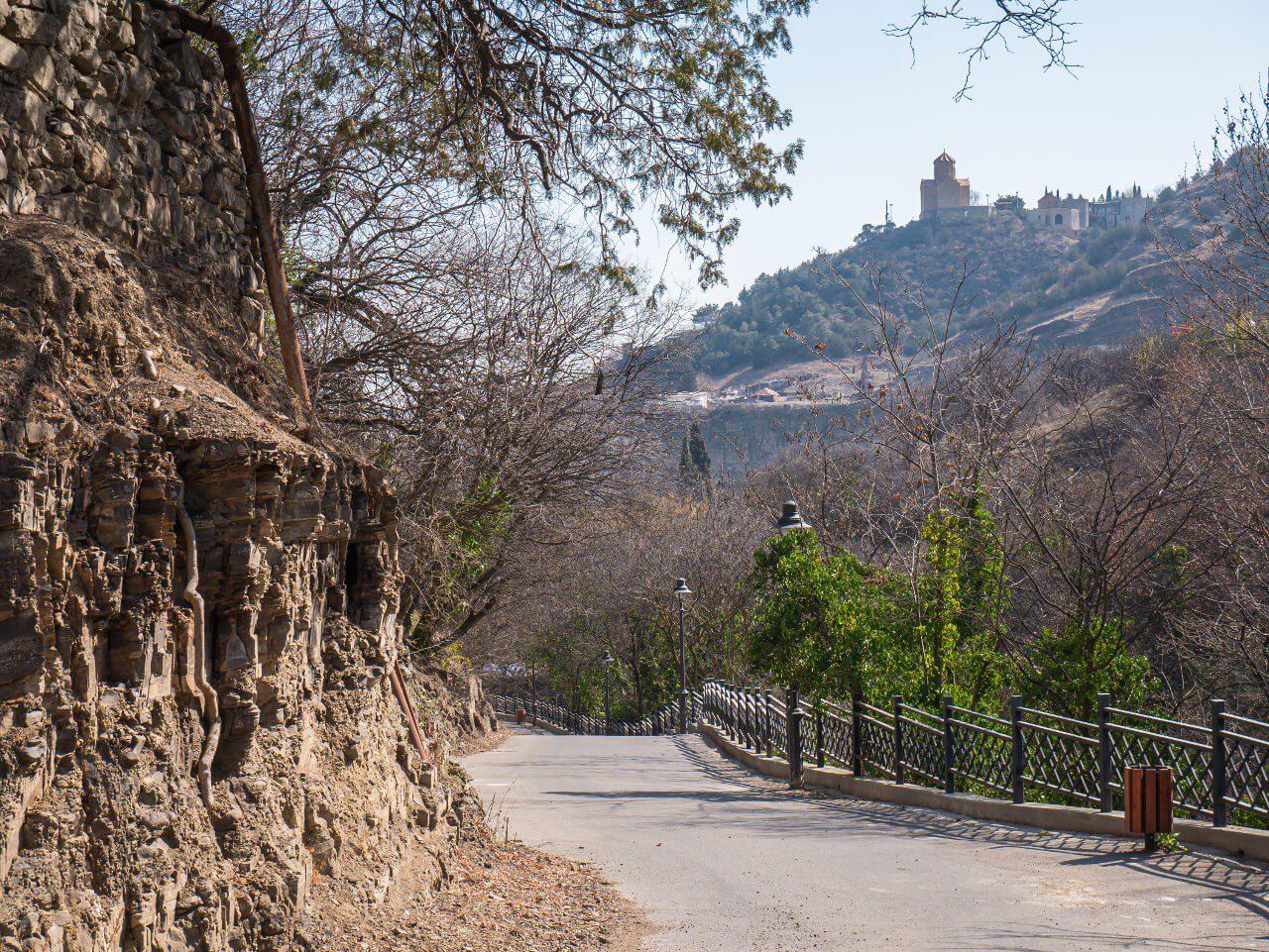 Ścieżka w ogrodzie botanicznym w Tbilisi