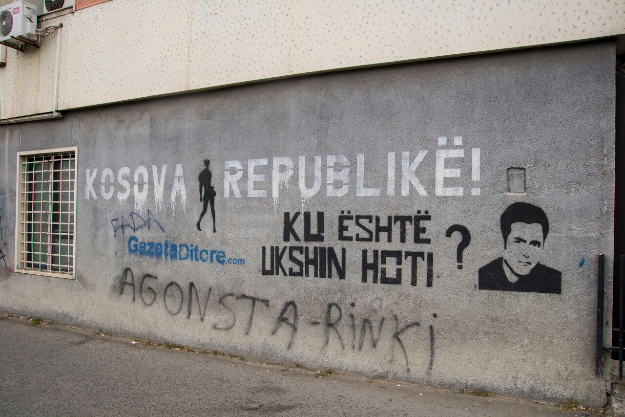 "Napis ""Kosove Republike"" - Prisztina, Kosowo"