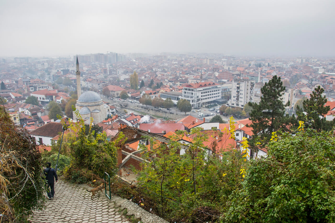Widok na Prizren z twierdzy