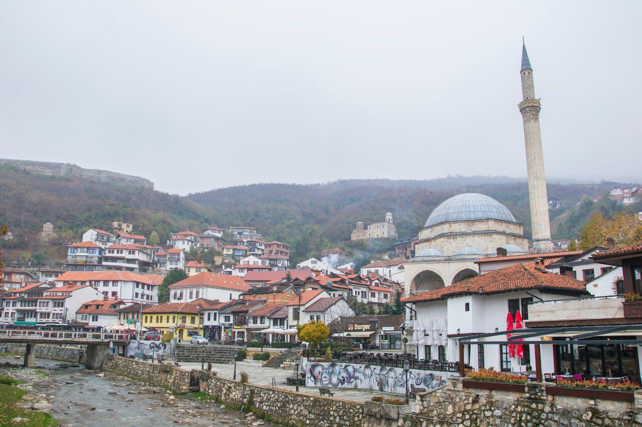 Widok na Prizren w Kosowie