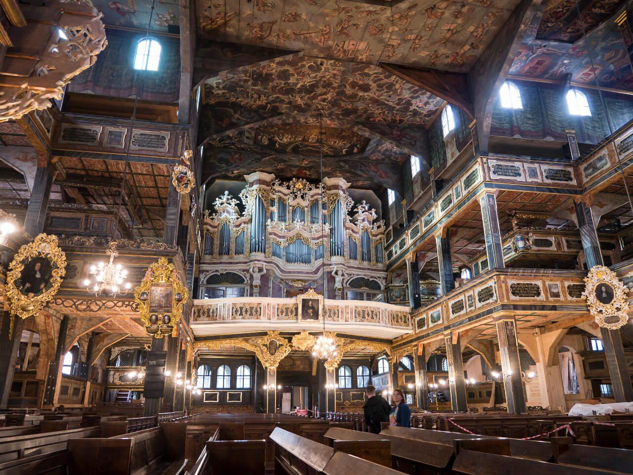 Wnętrze Kościół Pokoju Świdnica