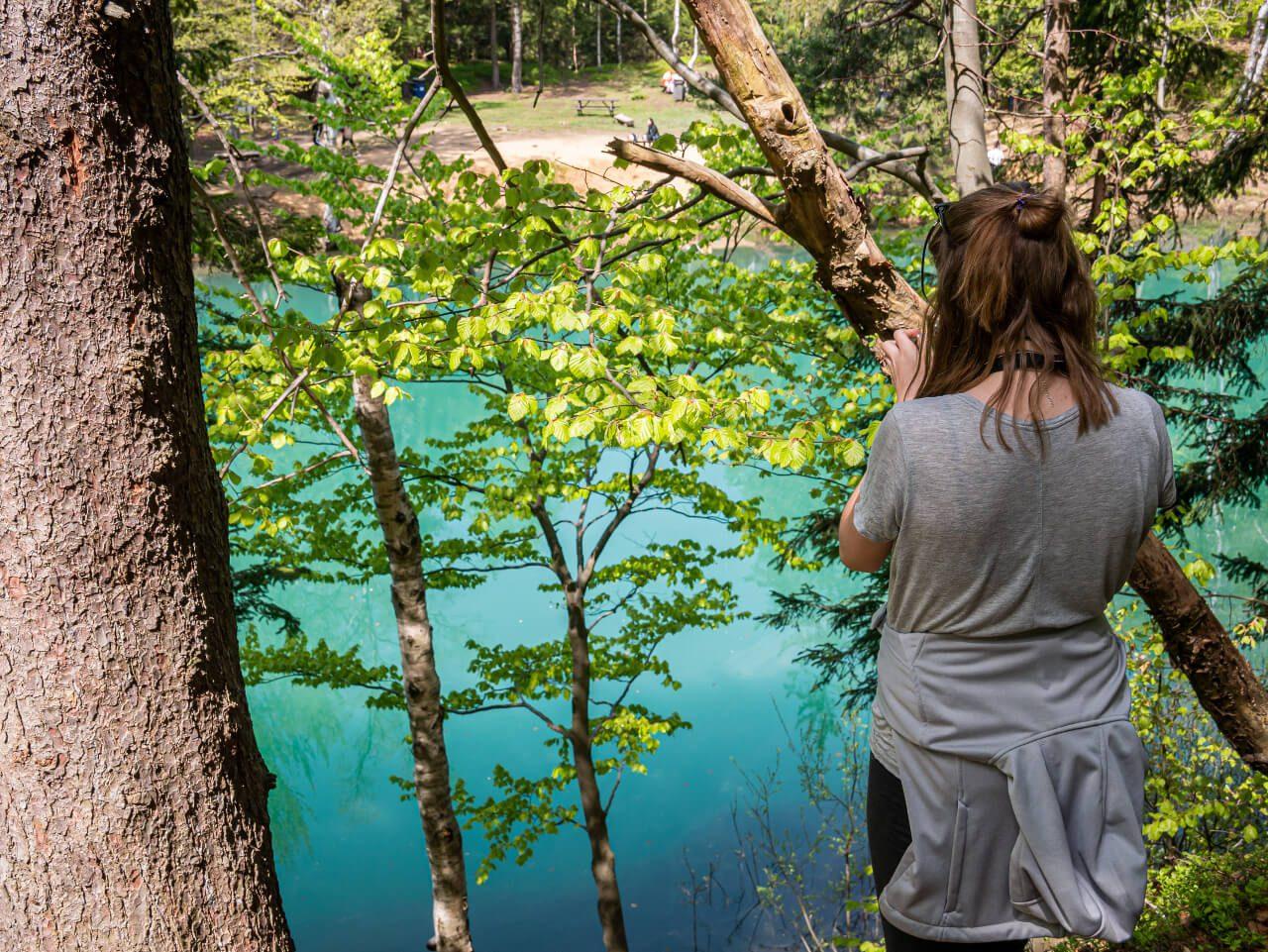 błękitne jeziorko las rudawy janowickie