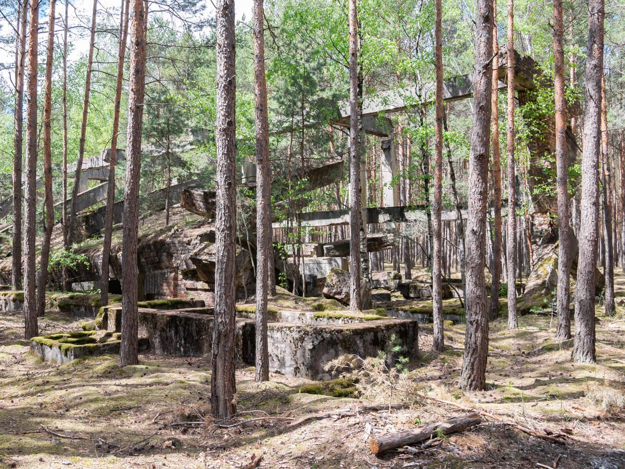 Ruiny kompleks DAG Krzystkowice