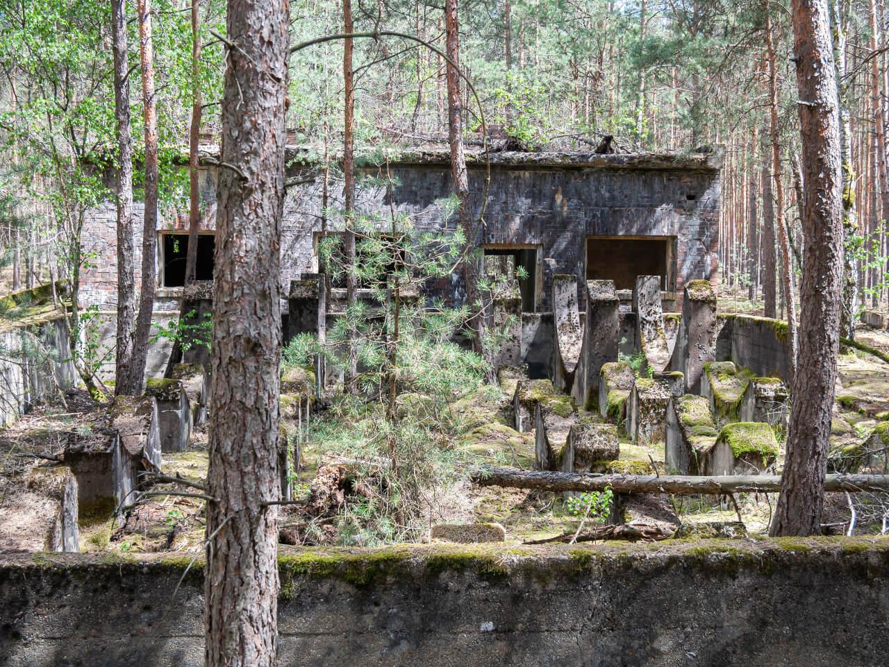Ruiny kompleks fabryka DAG dynamitu Krzystkowice