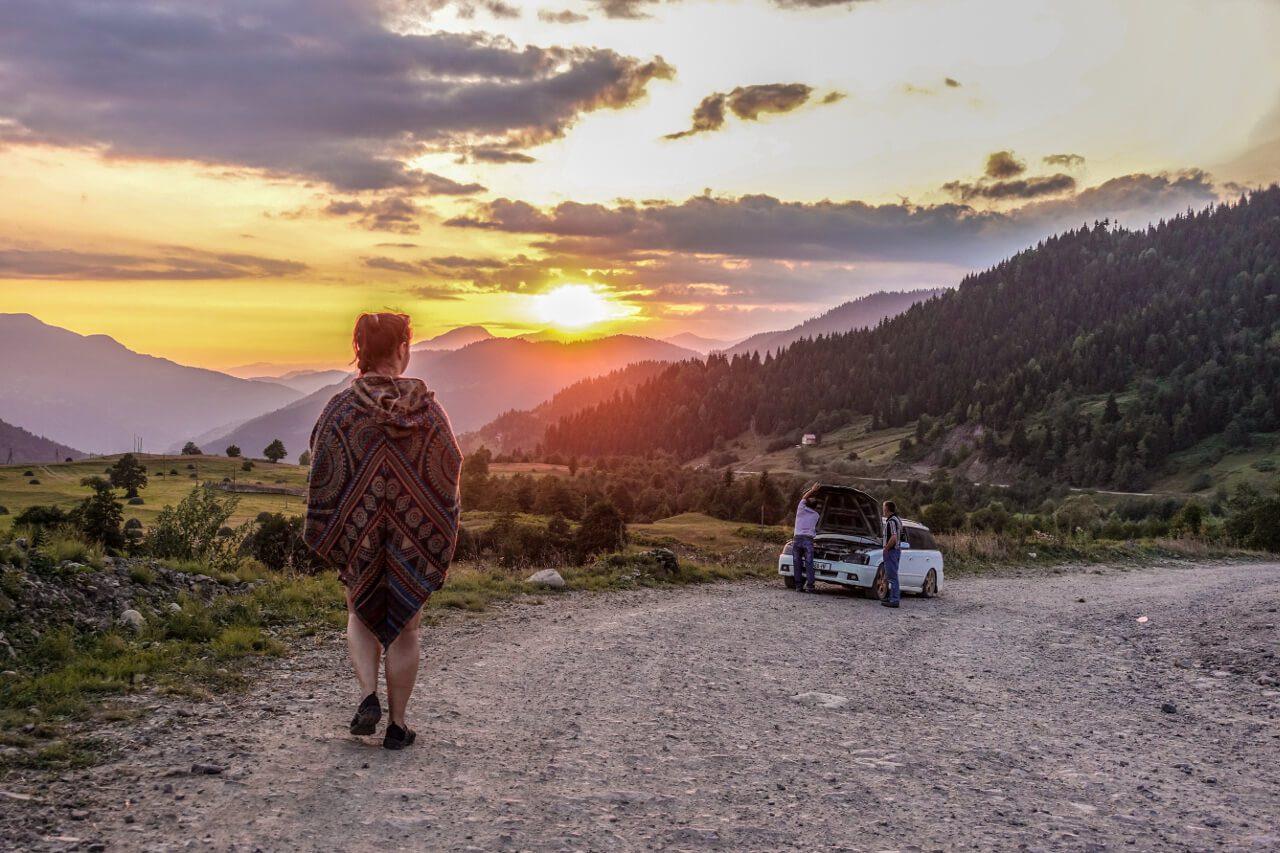 Widok na góry w Gruzji