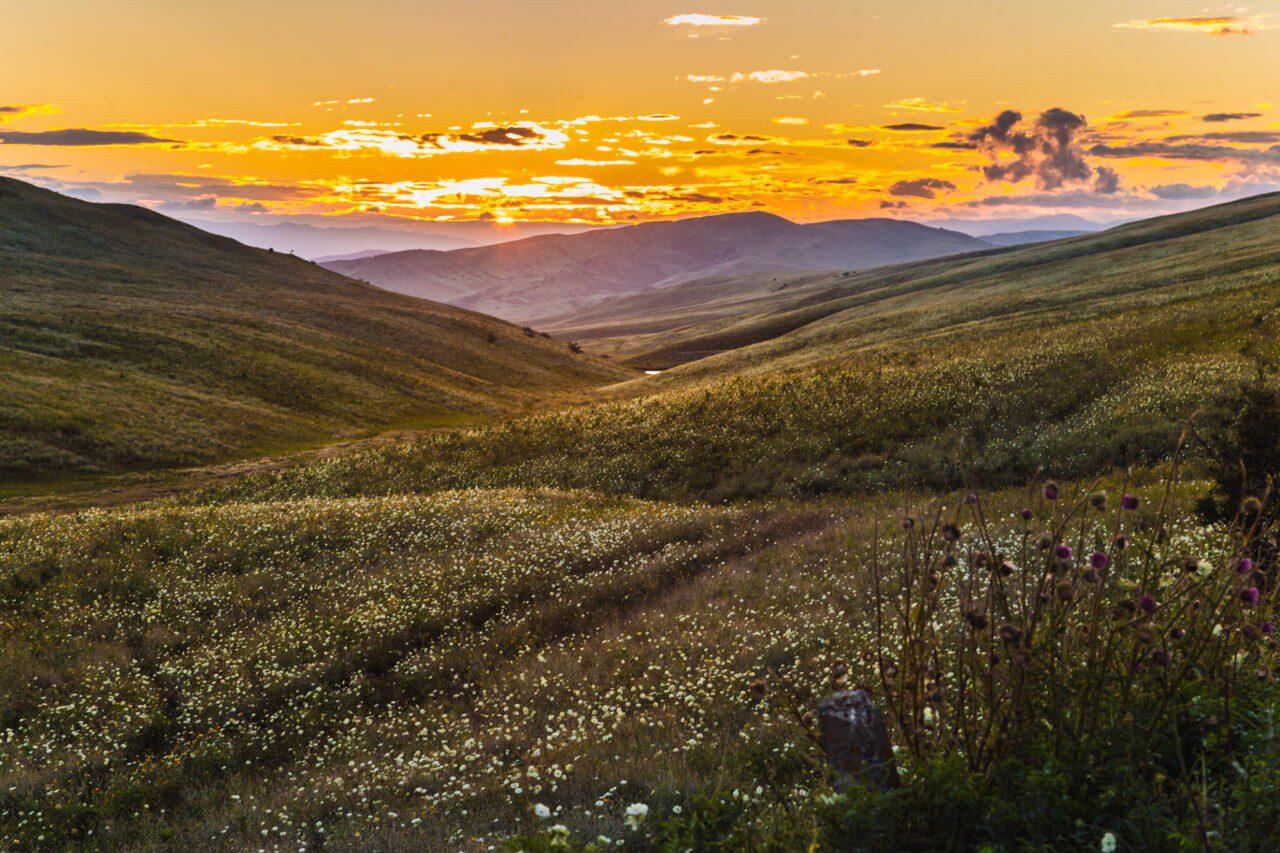Górska polana w Gruzji