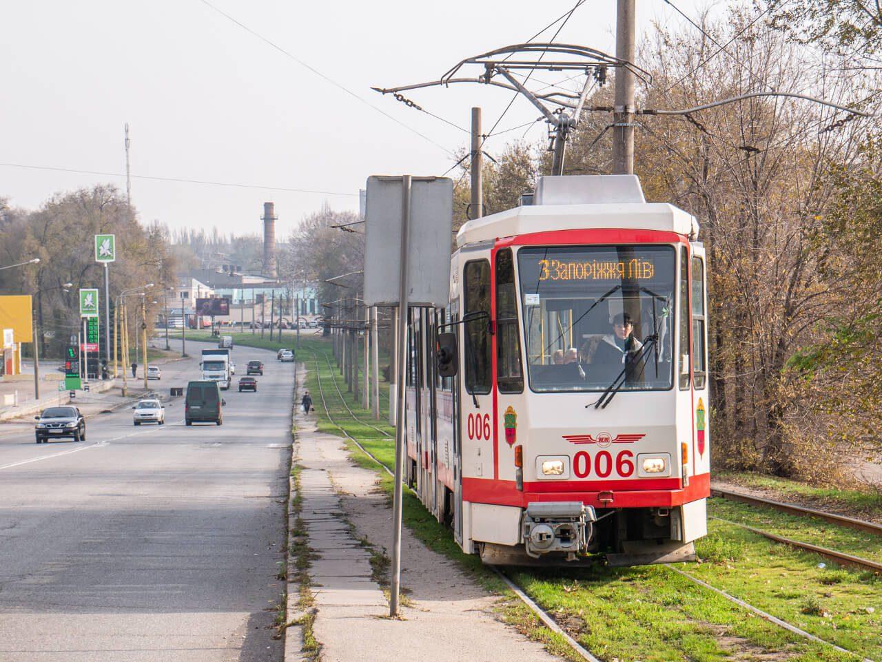 Tramwaj nr 3 w Zaporożu