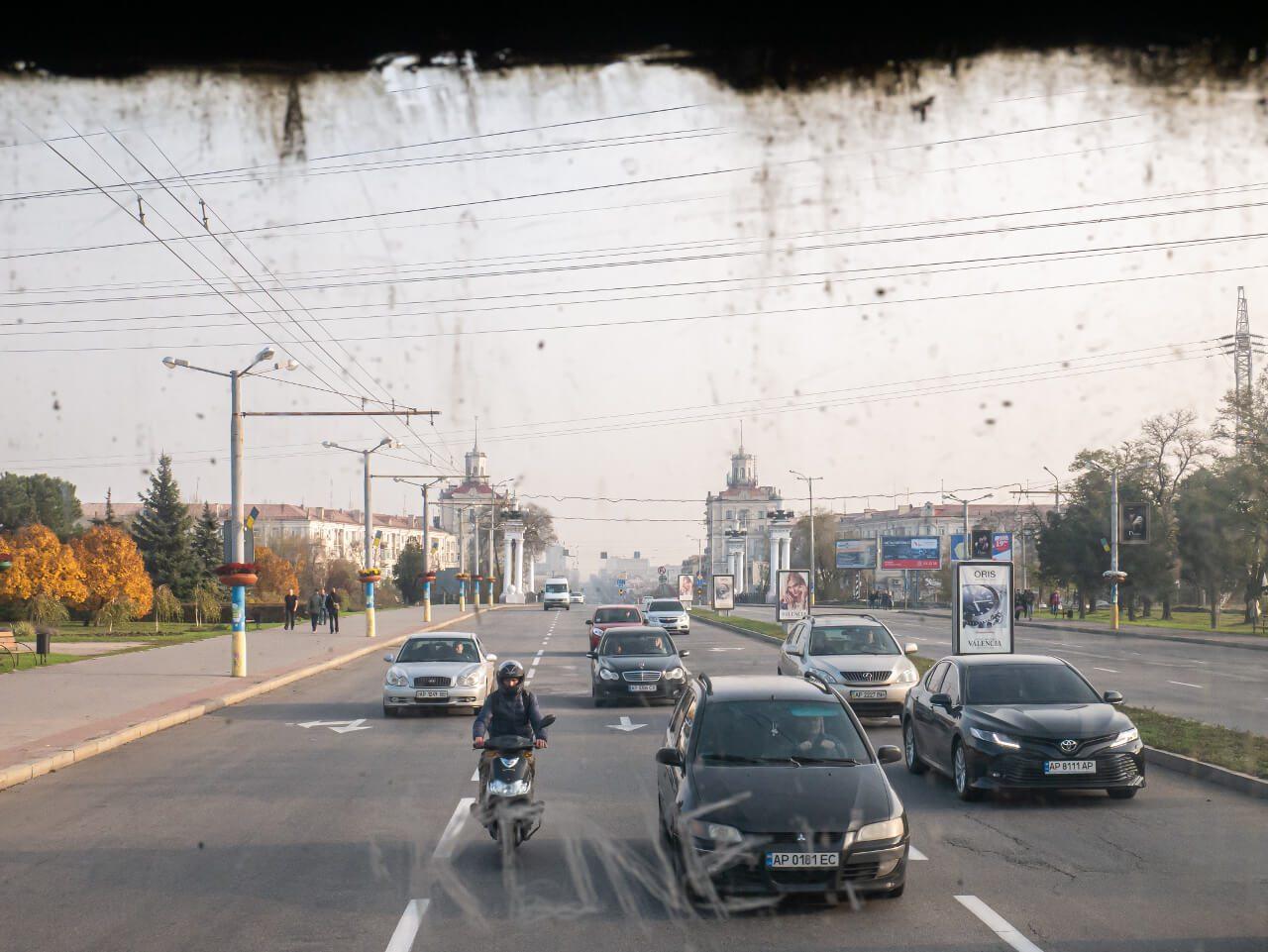 Widok na Prospekt Sobornyj Zaporoże