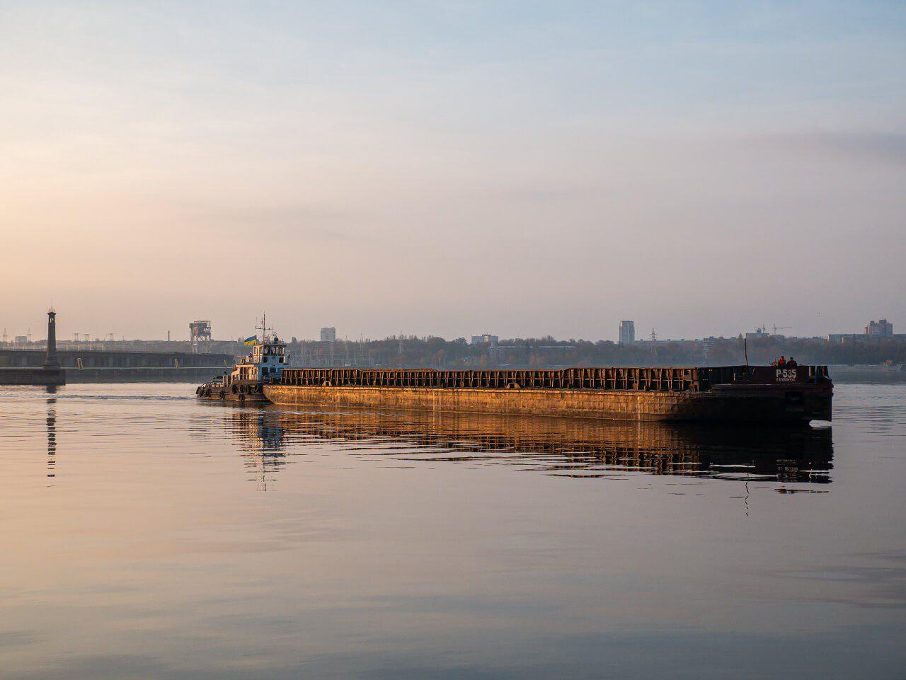 Barka na Dnieprze Zaporoże