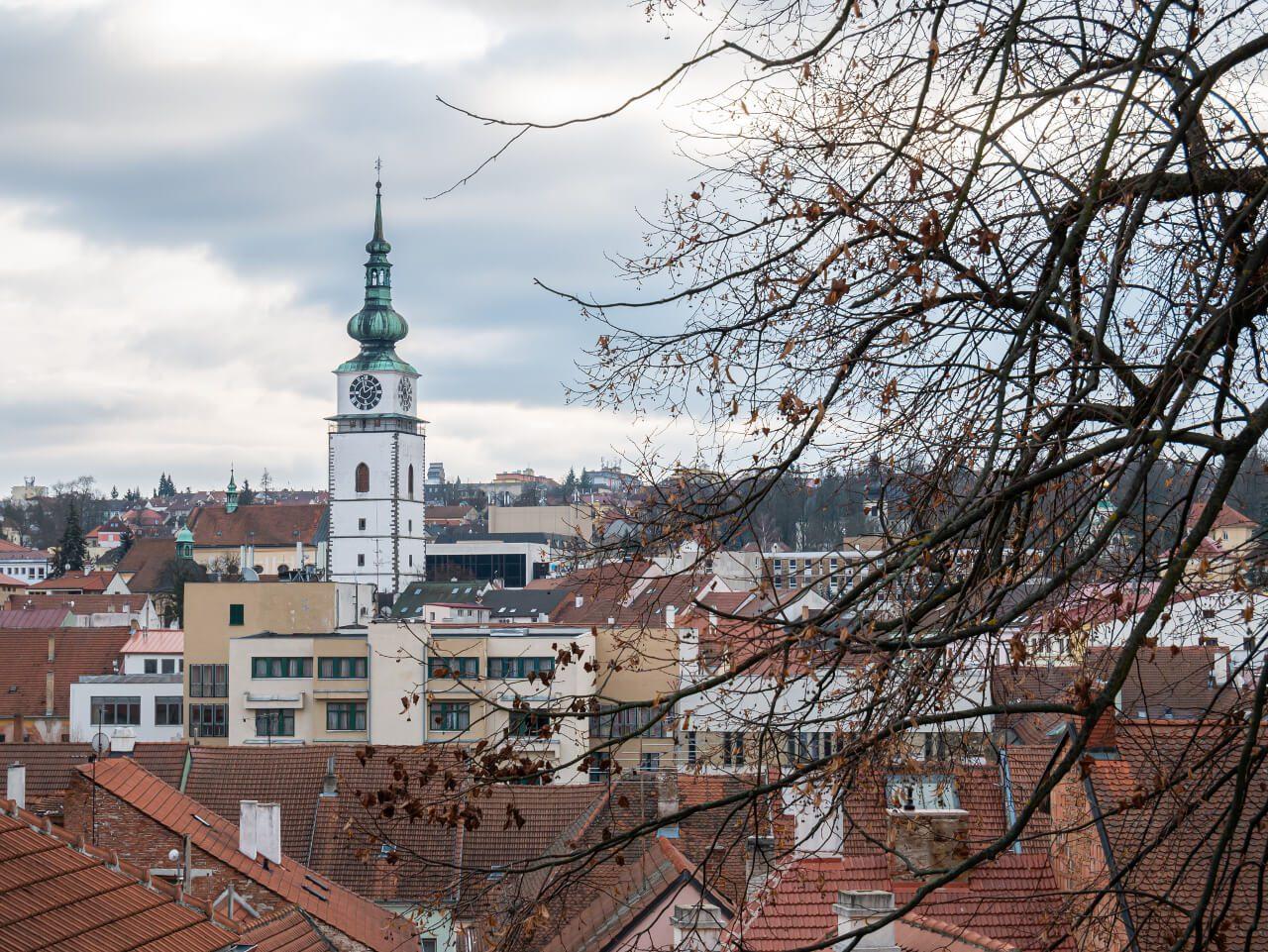 Widok na Trebic Czechy