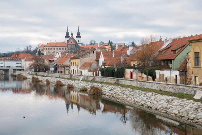 Widok na Trebic w Czechach