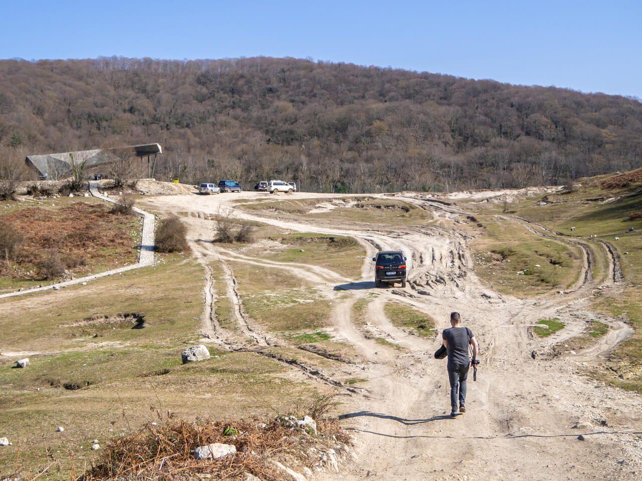 droga do kanionu okatse samochód bartek