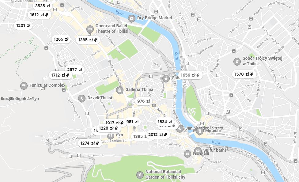 Mapka lokalizacji Airbnb