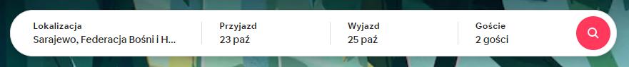 zrzut ekranu airbnb