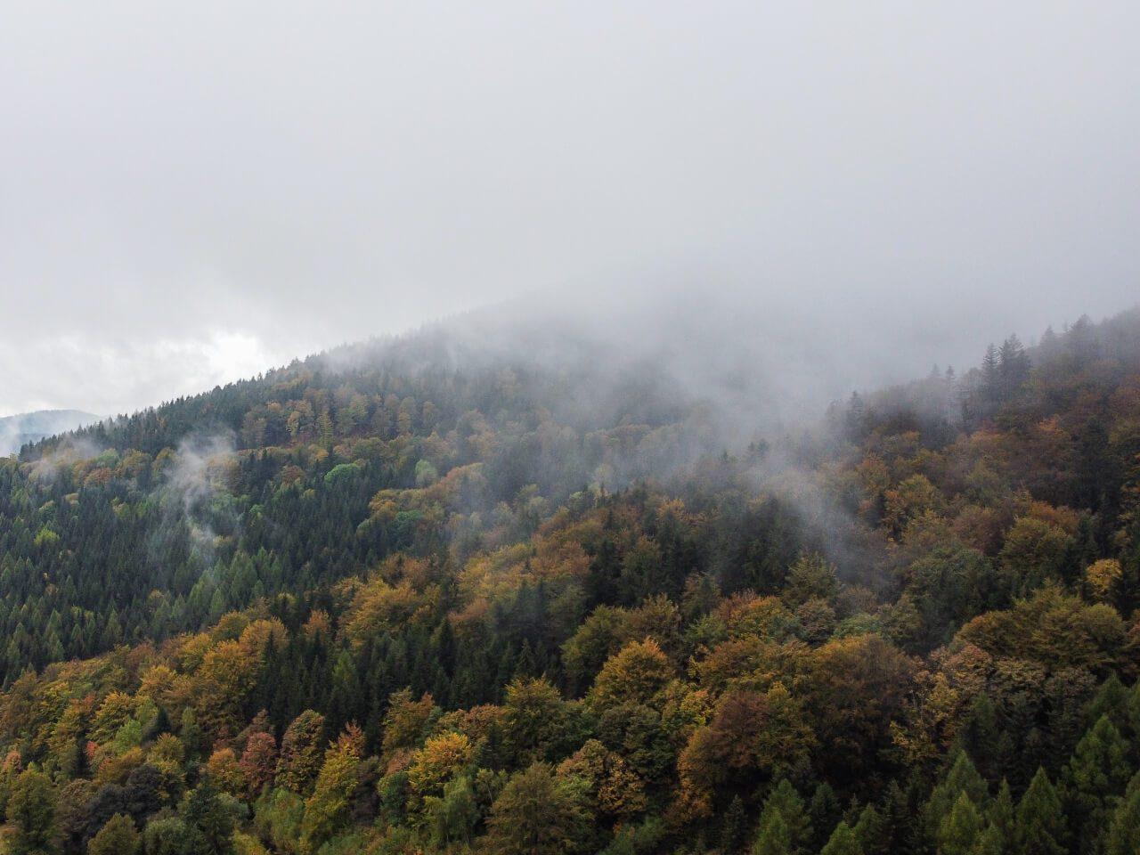 widok mgła góry sowie blog podróżniczy