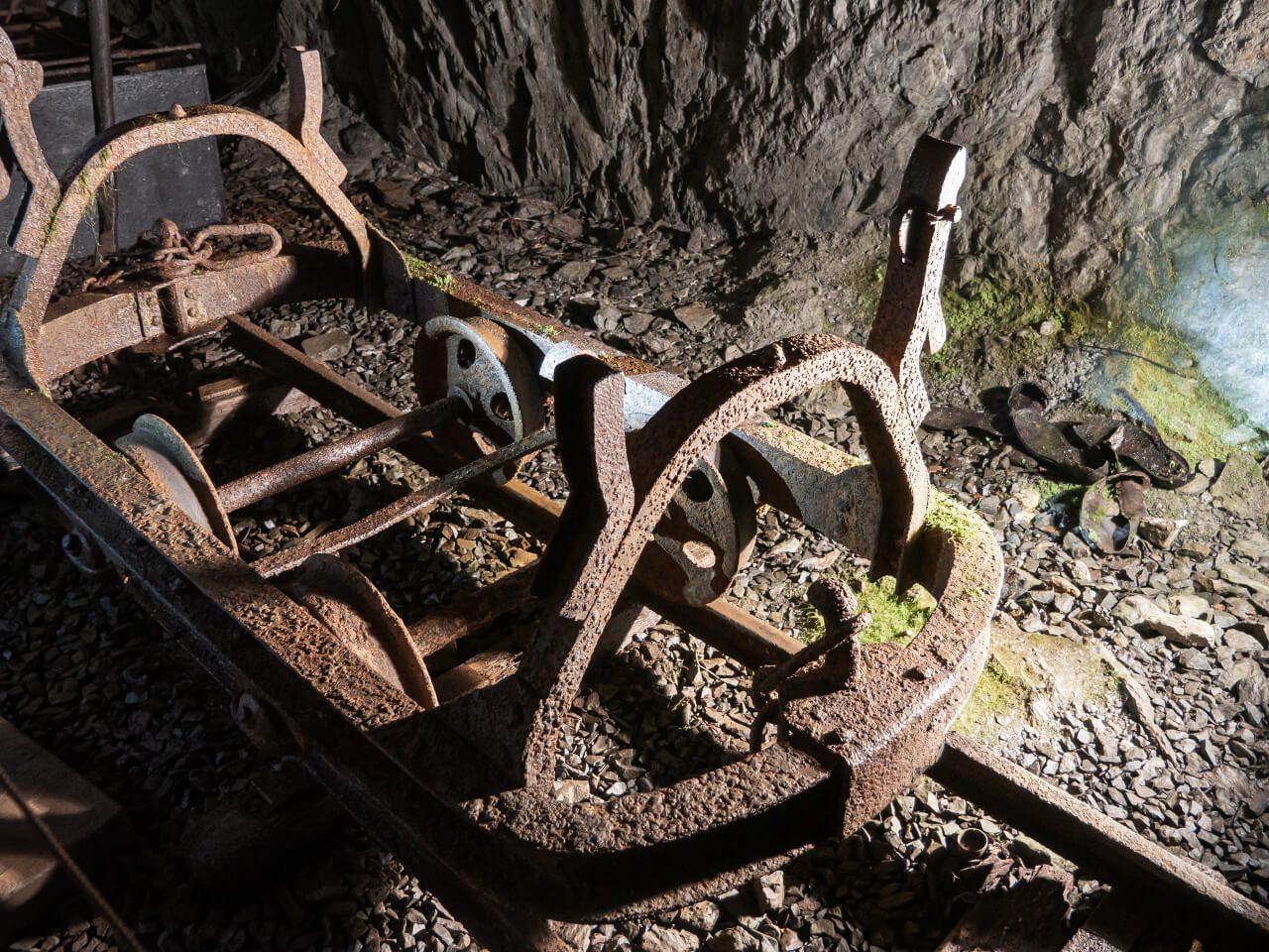 Wózek transportowy sztolnie Riese Góry Sowie