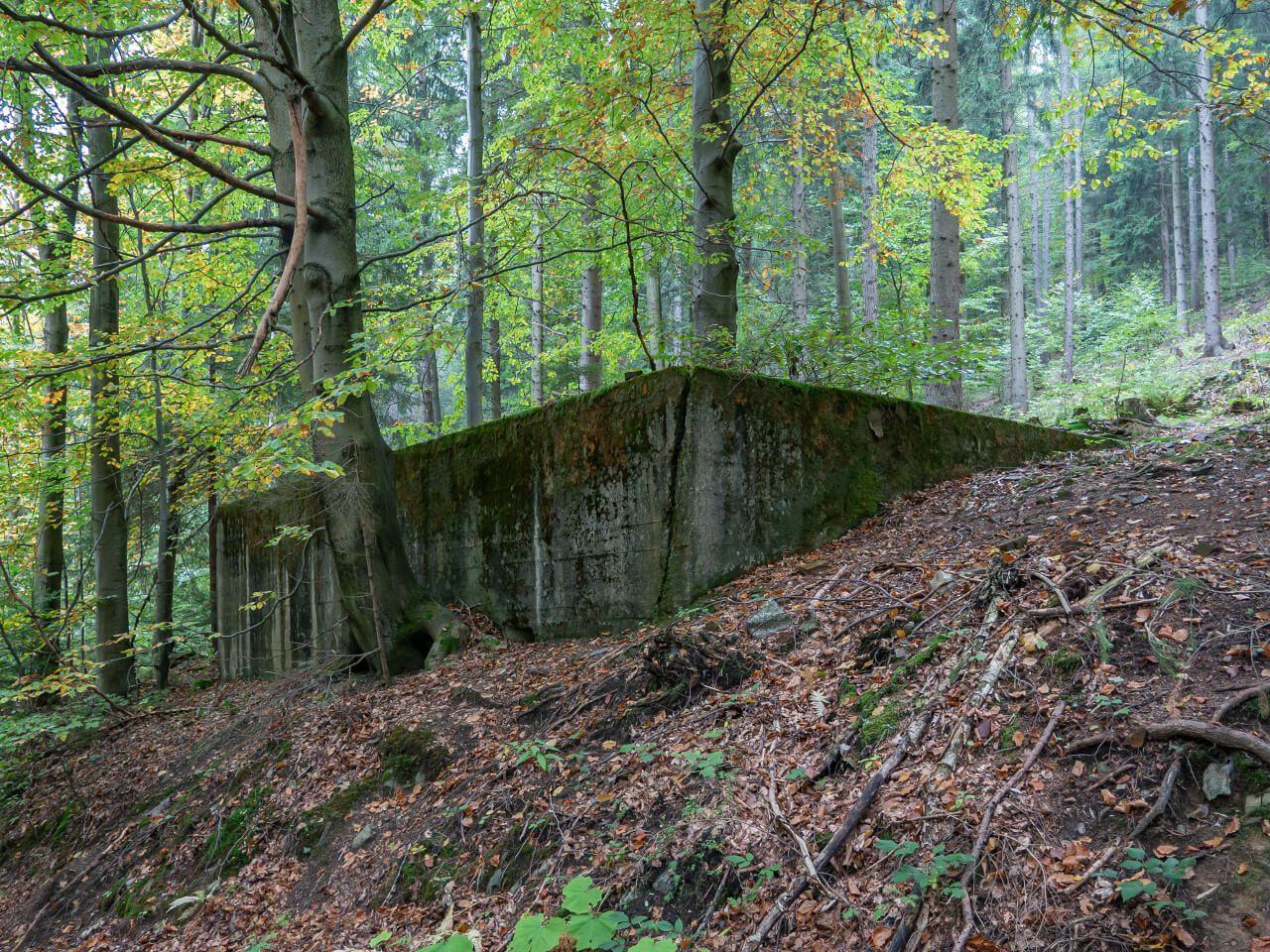 Fundamenty Osówka kompleks Riese Góry Sowie