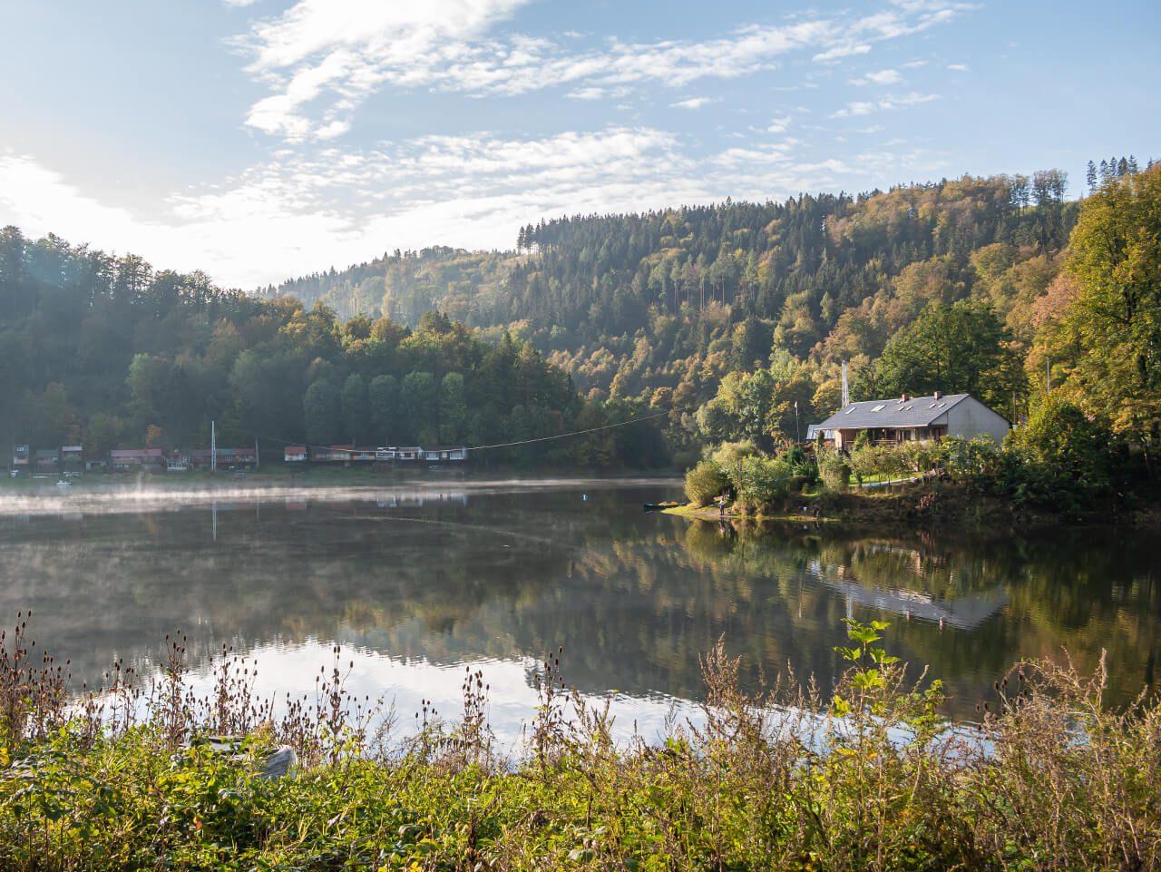 Jezioro Bystrzyckie Zagórze Śląskie blog podróżniczy