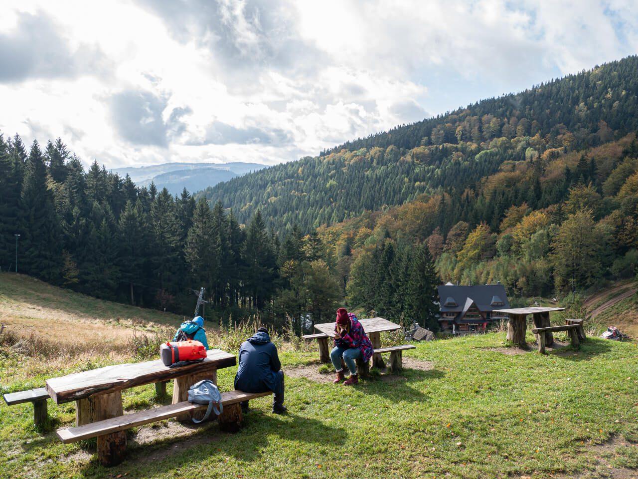 Widok Góry Sowie Przełęcz Jugowska