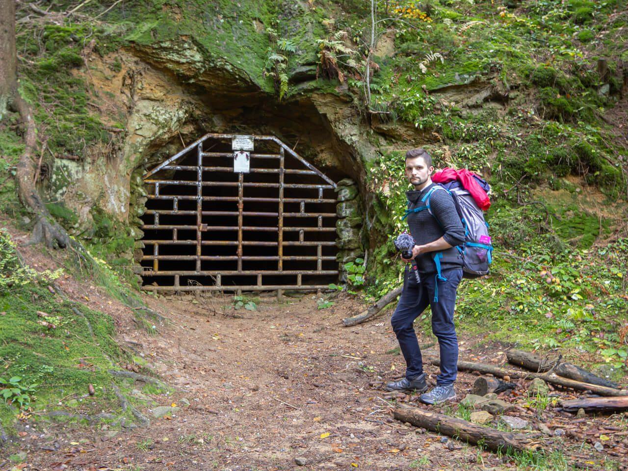 Wejście sztolnia Gontowa Riese
