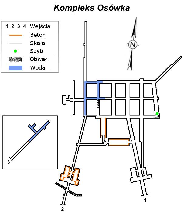 Plan kompleks Osówka Riese
