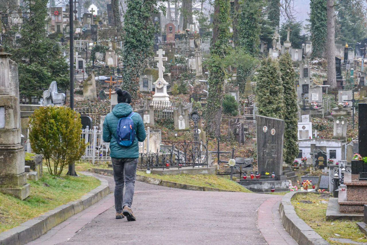 Cmentarz Łyczakowski we Lwowie Ukraina