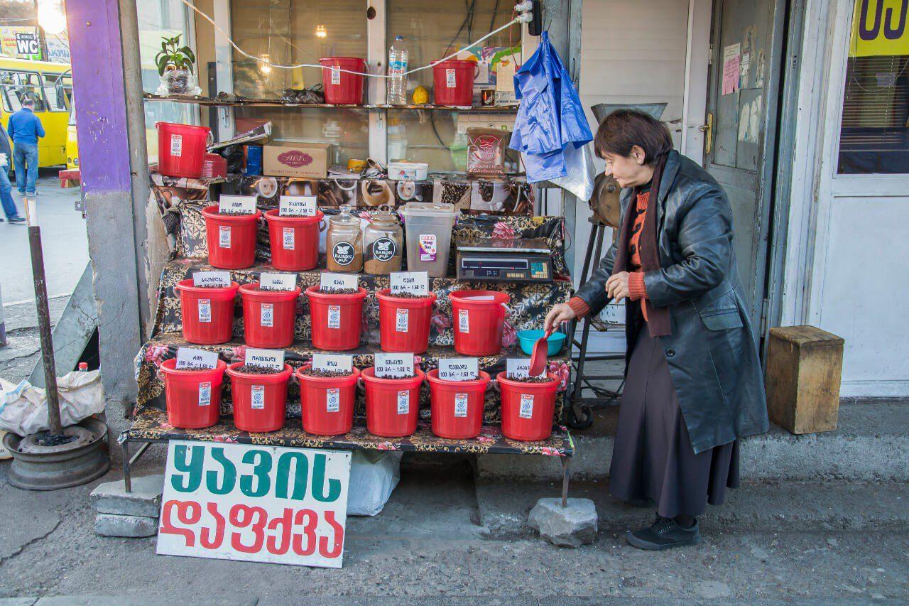 Gruzja Tbilisi plac Didube język gruziński