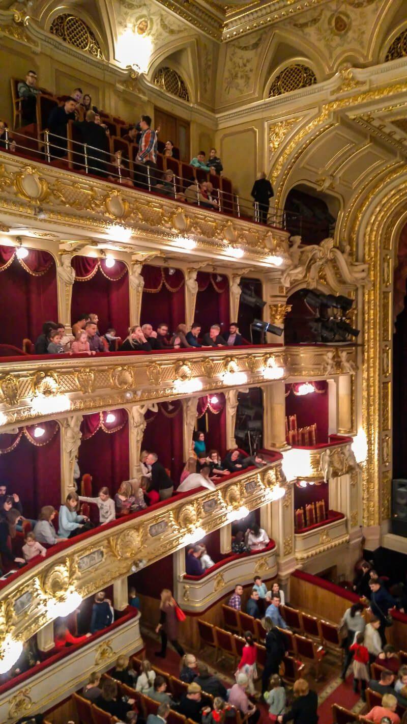 Wnętrze opera Lwów