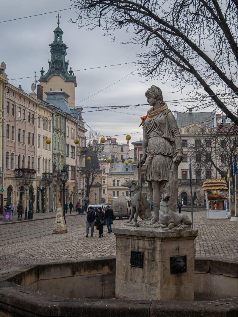 Fontanna Lwów Rynek co warto zwiedzić