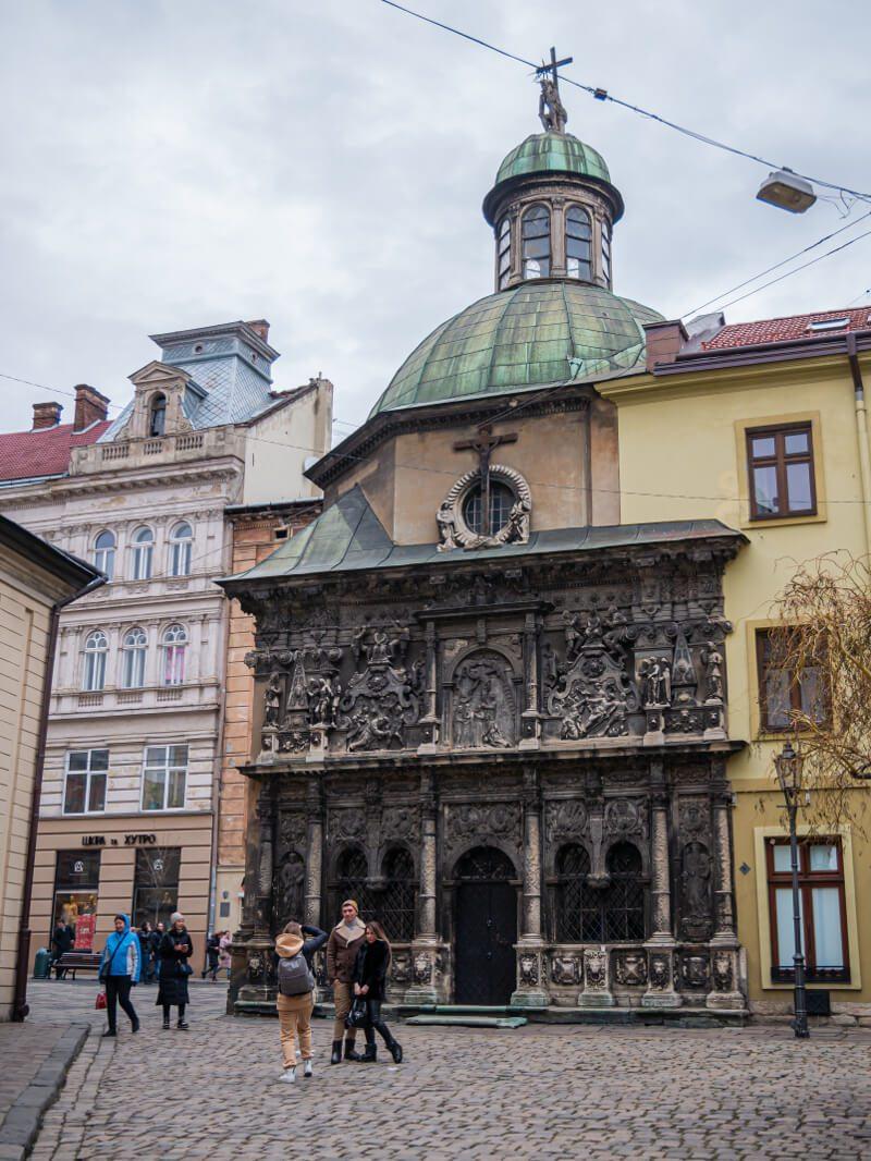 Kaplica Bojmów Lwów blog podróżniczy