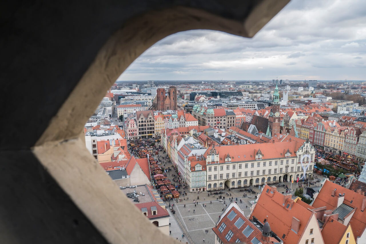 Wrocław punkty widokowe z lotu ptaka blog o podróżach