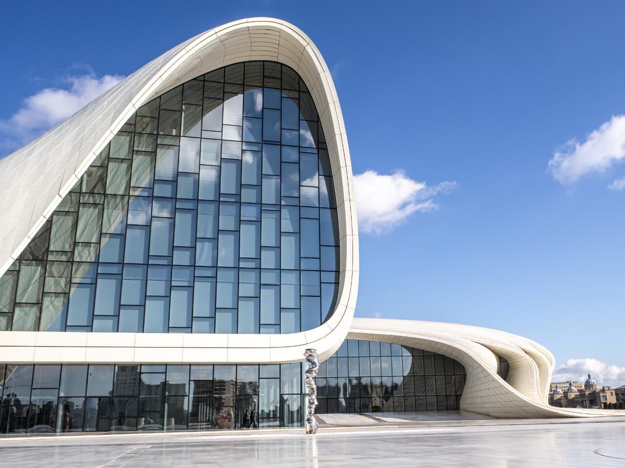 Wejście Centrum Heydara Aliyeva Baku