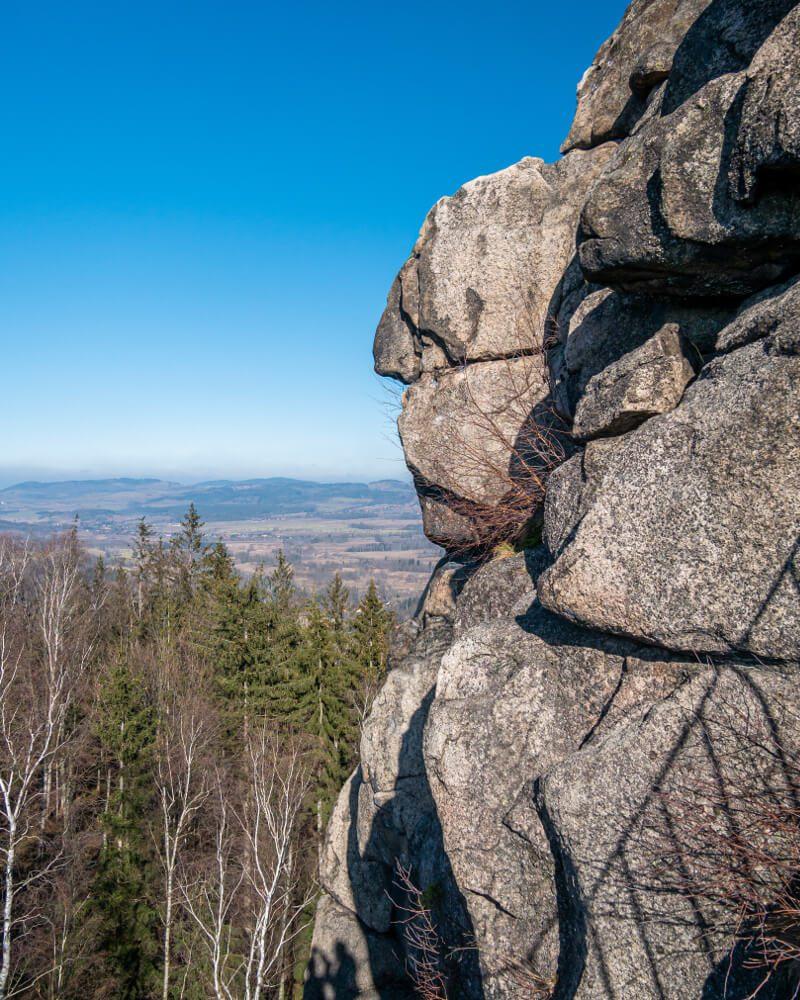 Sokolik Rudawy Janowickie skała