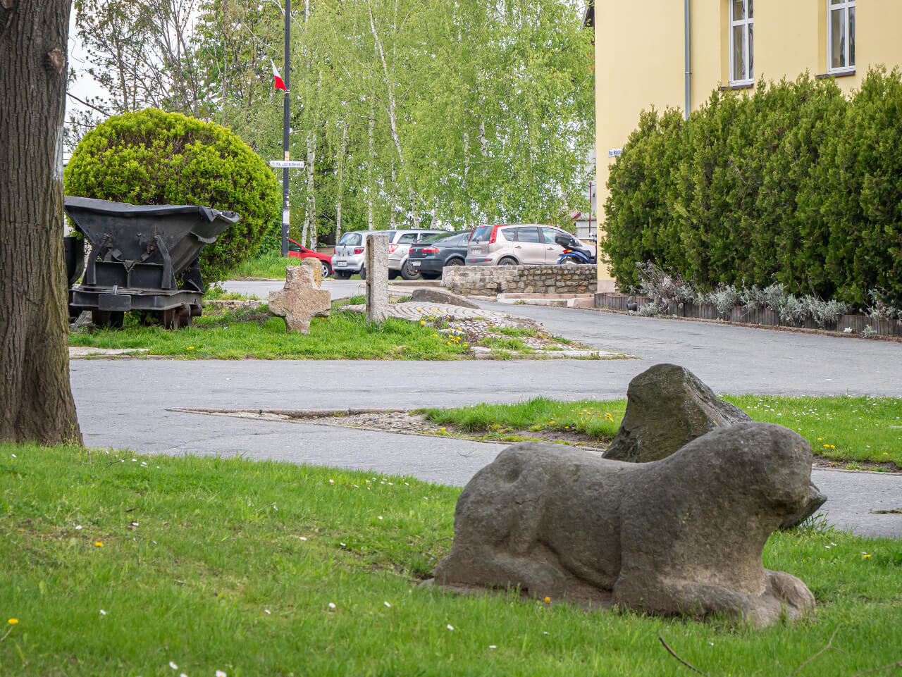 Rzeźba lew Sobótka