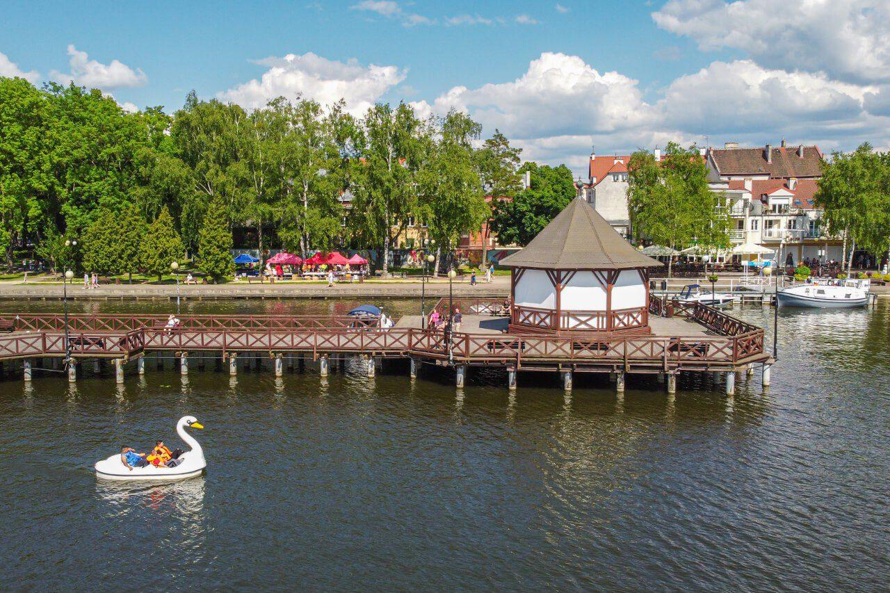 Molo Ostróda Jezioro Drwęckie