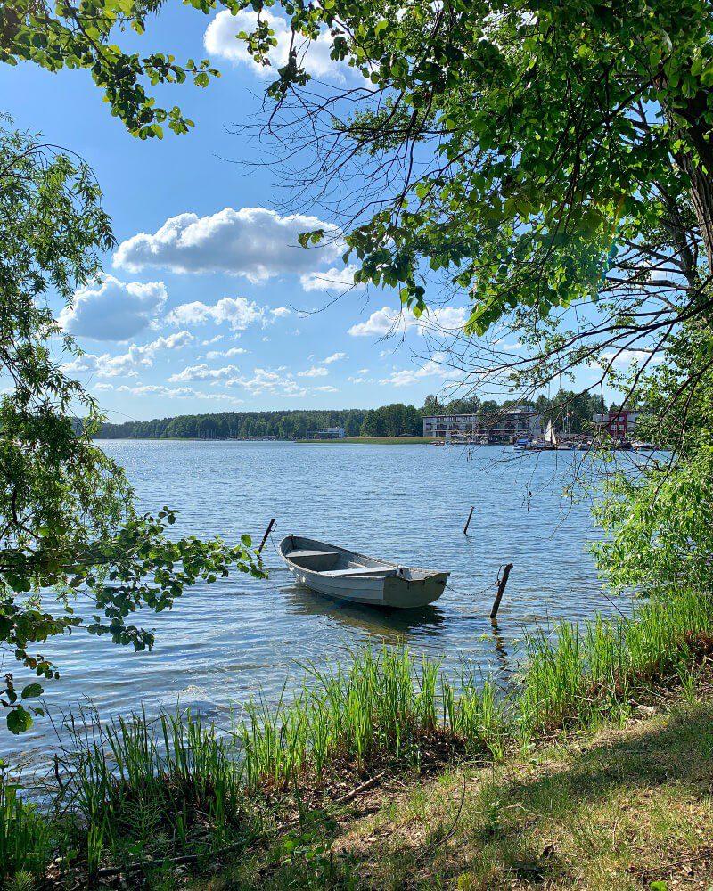 Łódka jezioro Ukiel Olsztyn