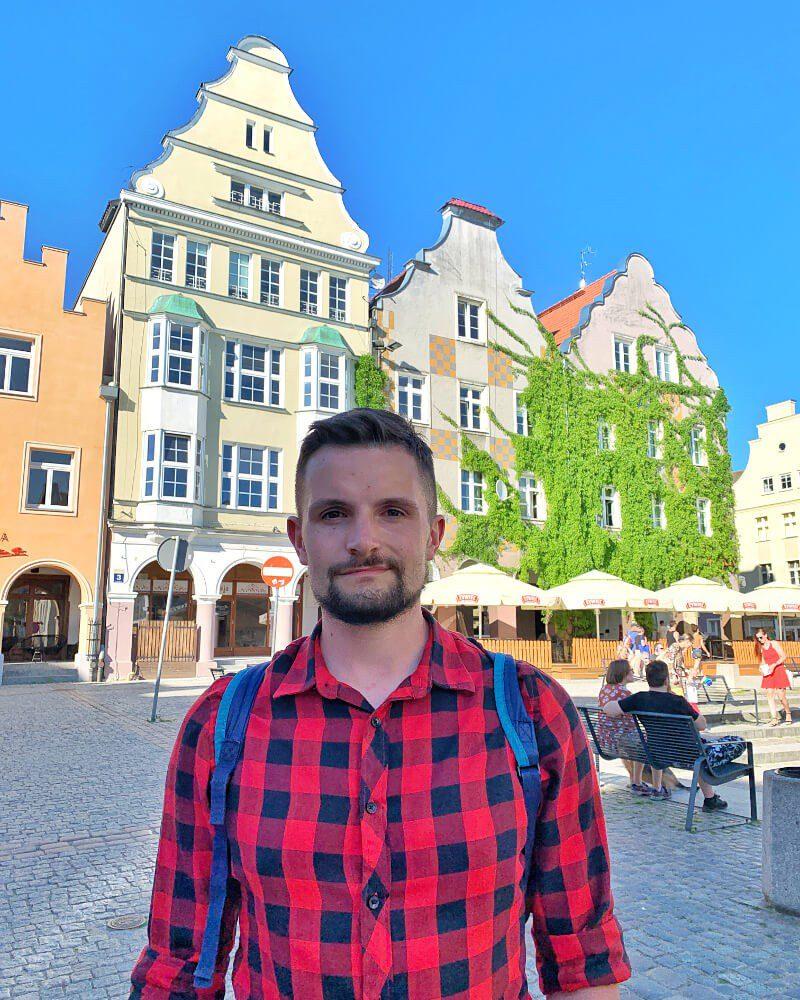 Stare Miasto Olsztyn Bartek mężczyzna