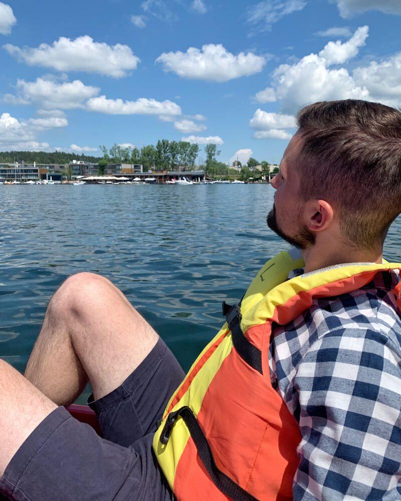 Jezioro Ukiel rower wodny aktywny wypoczynek
